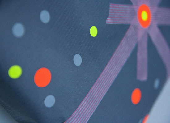 Neon prikker # gaveindpakning