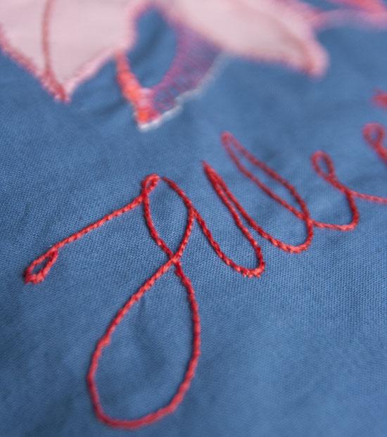 Broderi, embroidery, julestjerne