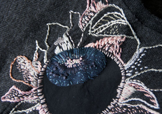 Broderi, embroidery, applikation