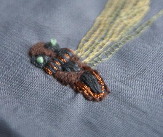fladsting, fransk knude, broderi, embroidery