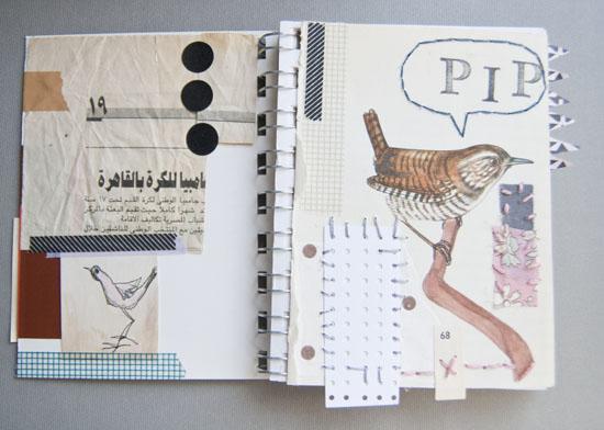 Art journal, collage