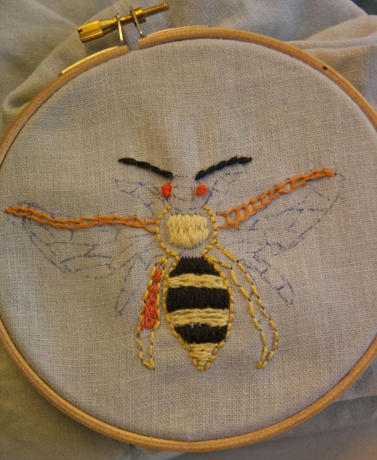 Insektbroderi, broderi workshop