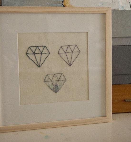 Broderi, diamant, embroidery